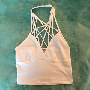 White Charlotte Russe Crop